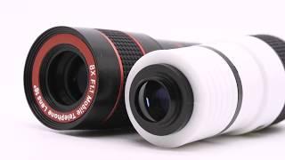 Прикольный Товар из Китая Объектив телескоп для камеры мобильного телефона и планшета