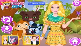 Как Барби спасала животных в джунглях! Мультик  Онлайн игра Барби