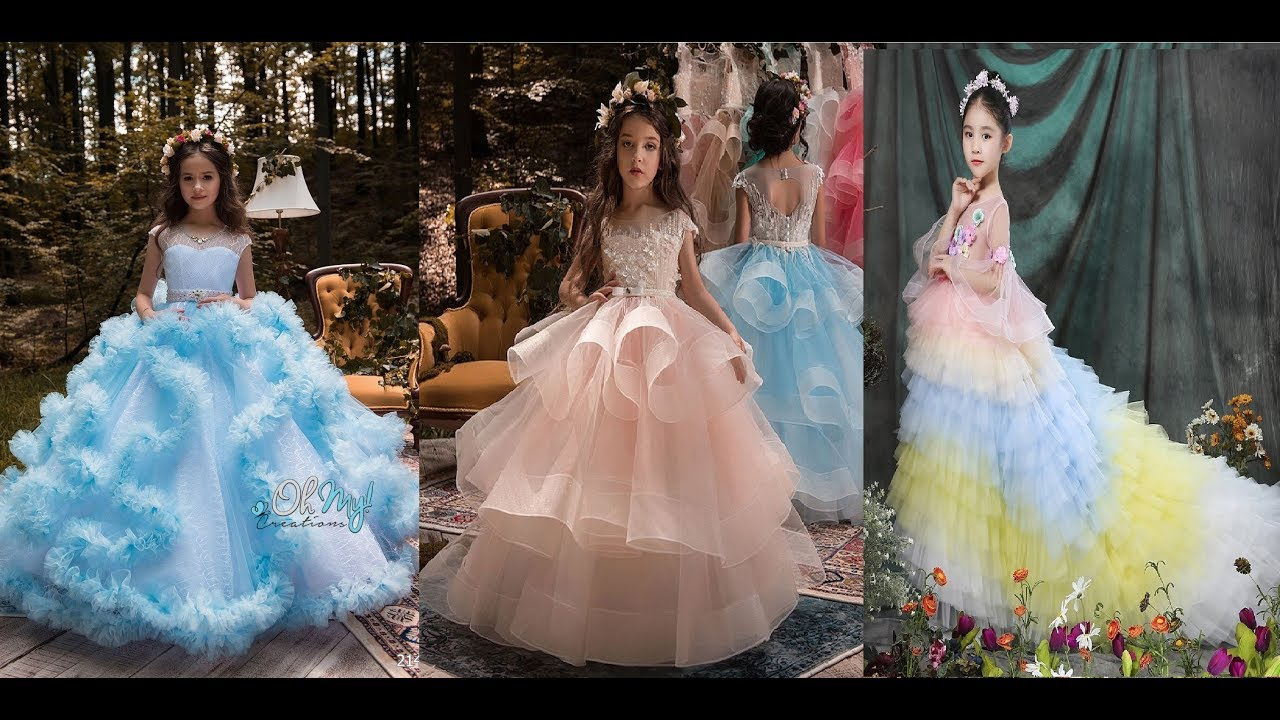 Princess Flower Girl Dress Baby Kids Performance Dress Party Wedding Gown Dress