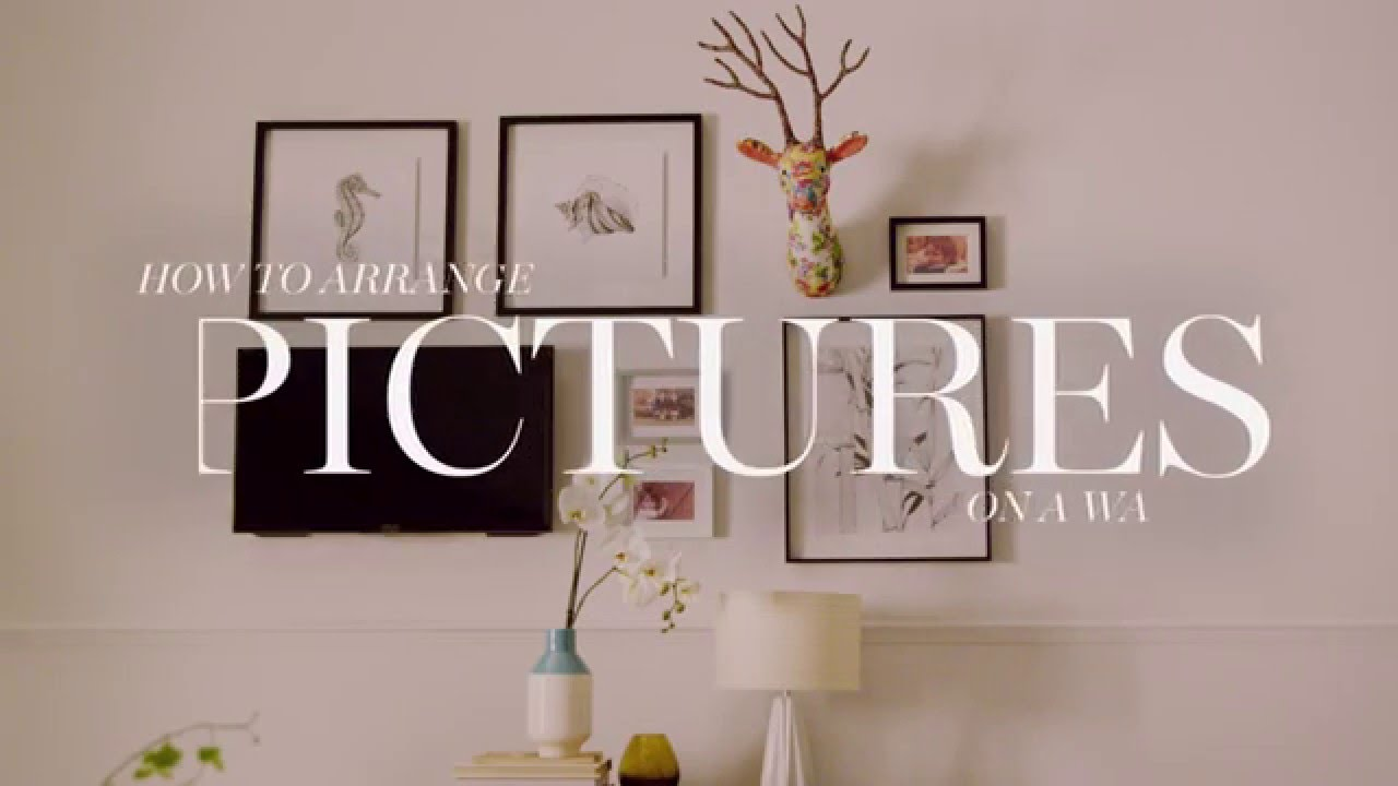 M&S Home: How To Arrange Pictures on a Wall - YouTube