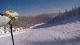 Carving Up Beauchemin Haut on Mt Tremblant's North Side