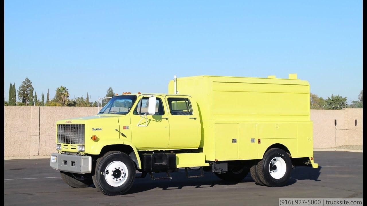 1987 GMC 7000 Crew Cab Enclosed Utility Truck - YouTube
