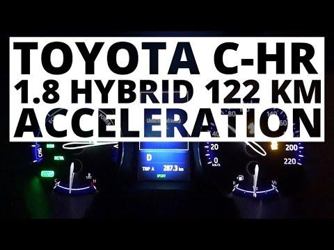 Toyota C-HR 1.8 Hybrid 122 hp (AT) - acceleration 0-100 km/h
