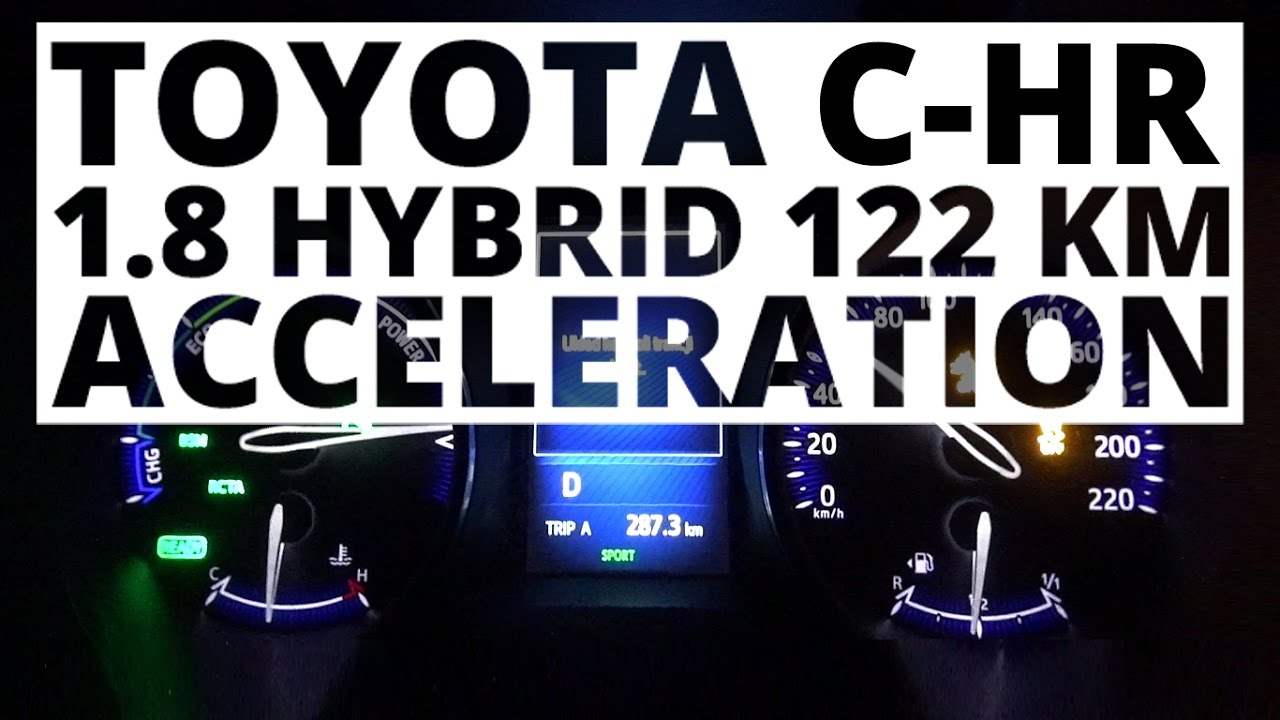 toyota c hr 1 8 hybrid 122 hp at acceleration 0 100 km h youtube. Black Bedroom Furniture Sets. Home Design Ideas