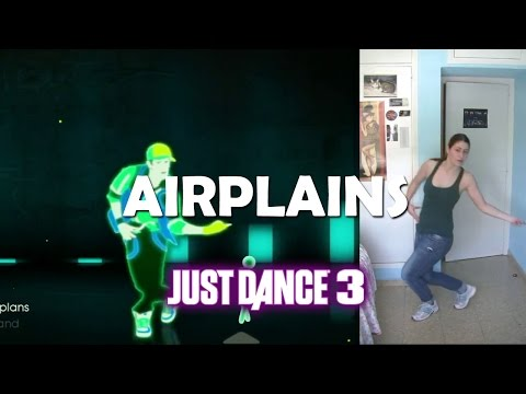 """Just Dance 3 & Greatest Hits """"airplanes""""   Jugando con Kinect"""