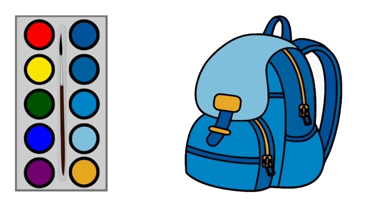 Cara Menggambar Tas Sekolah