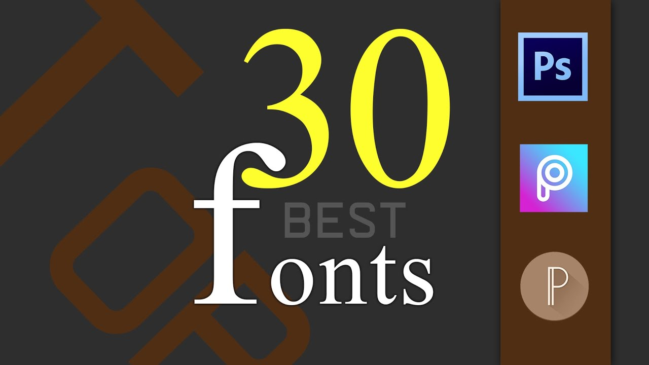Download Top 30 fonts pack 2020 for ( picart , pixlab , photoshop ...