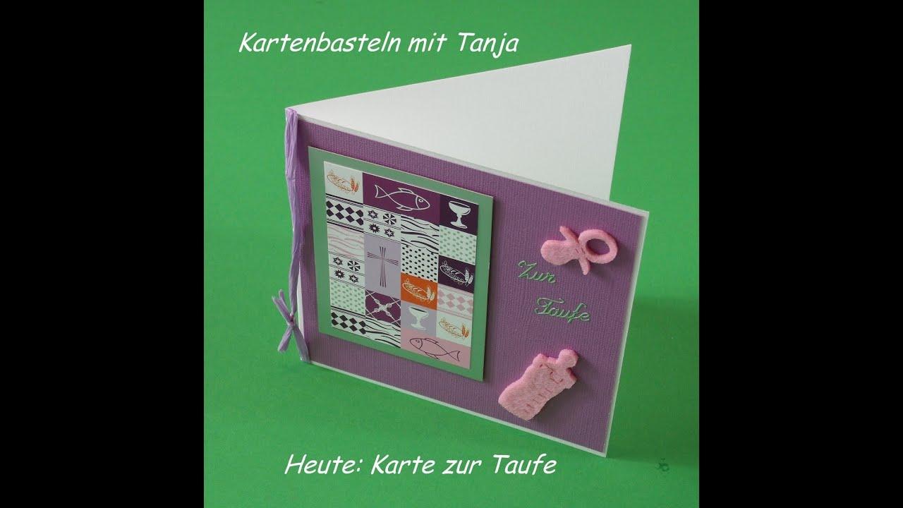Karte Zur Taufe Konfirmation Kommunion Basteln Für Mädchen Deutsch