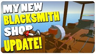Blacksmith Simulator (New Weapons Update) - My Blacksmith Shop at Sea? | Blacksmith Sim Gameplay