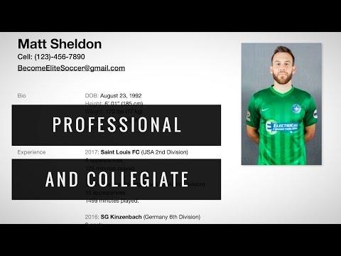 How to Make a Soccer CV/Resume