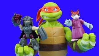 teenage mutant ninja turtles get supersized by shredder tmnt splinter toys leo donnie mikey raph