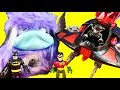 Grumblies Bolt Babysits Imaginext Batman Batcave ! Superhero Toys