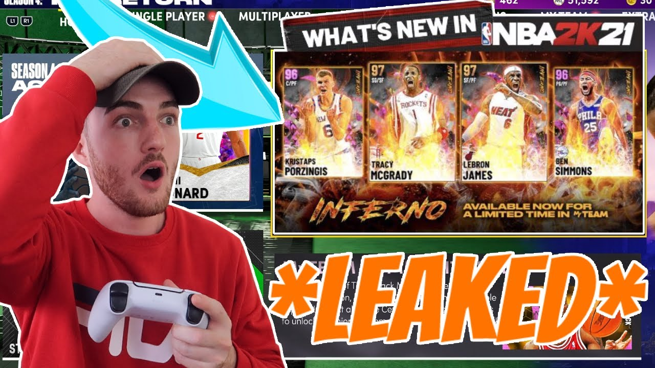 *LEAKED* INFERNO PACKS - GALAXY OPAL LEBRON JAMES & TRACY MCGRADY! (NBA 2K21 MyTEAM)