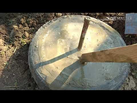 Фундамент из покрышек своими руками видео