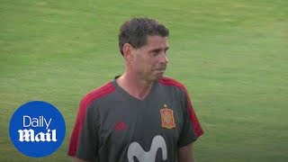 Hierro takes training after sudden sacking of Julen Lopetegui - Daily Mail