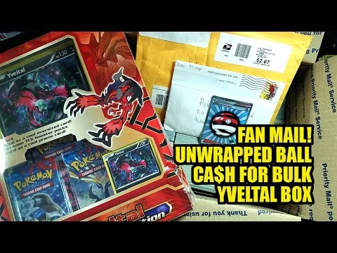 FAN MAIL! + HOW TO SELL YOUR BULK + UNWRAPPED BALL TRAINER CARD + YVELTAL COLLECTION BOX OPENING