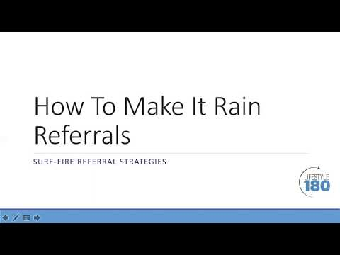 How To Make It Rain Referrals