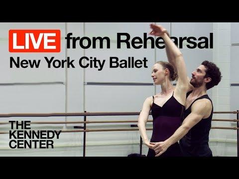 New York City Ballet LIVE from Rehearsal: Tschaikovsky Pas de Deux | The Kennedy Center