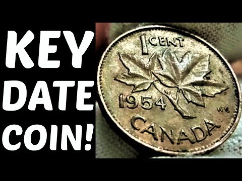 SUPER RARE CANADIAN PENNY FOUND IN A ROLL OF PENNIES! COIN ROLL HUNTING PENNIES | COIN QUEST