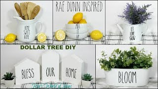 RAE DUNN INSPIRED DOLLAR TREE DIY DECOR IDEAS | DECOR ON A BUDGET | FARMHOUSE STYLE
