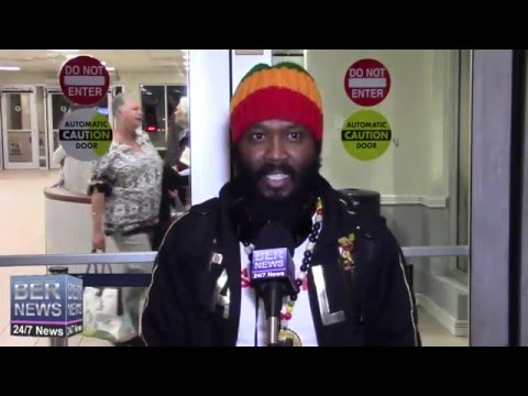 Reggae Artist Warrior King Arrives In Bermuda, February 5 2016