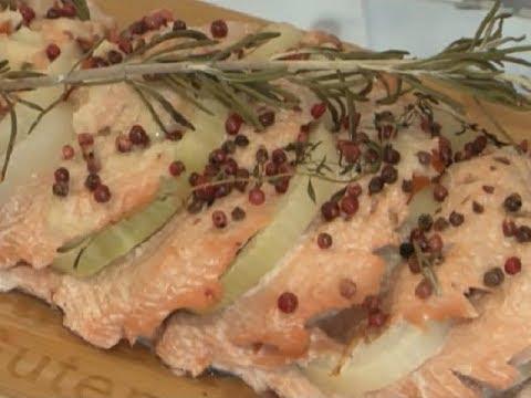Вкусные новости. Запеченная рыба с соусом песто