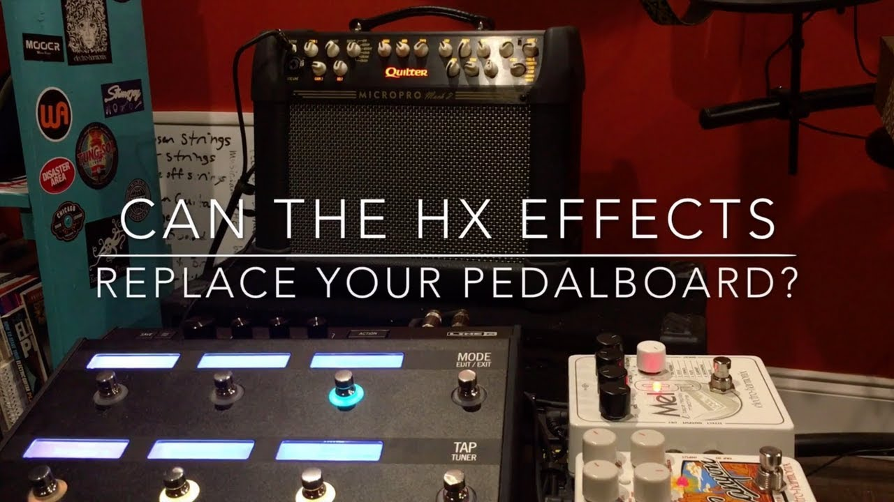 Replaced my Pedal board with the LINE 6 HX EFFECTS t