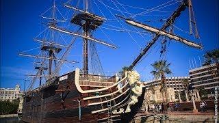 Испанский корабль Santisima Trinidad в порту Аликанте смотреть онлайн(Испанский корабль