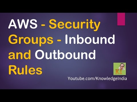 AWS - Security Groups - Inbound and Outbound Rules