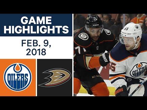 NHL Game Highlights | Oilers vs. Ducks - Feb. 9, 2018