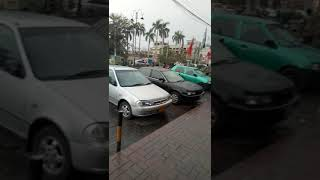 Heavy rain - Pleasant weather in faisalabad - Accident