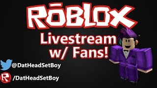 ROBLOX LIVE - Random Games! w/ Fans! APRIL FOOLS LIVESTREAM