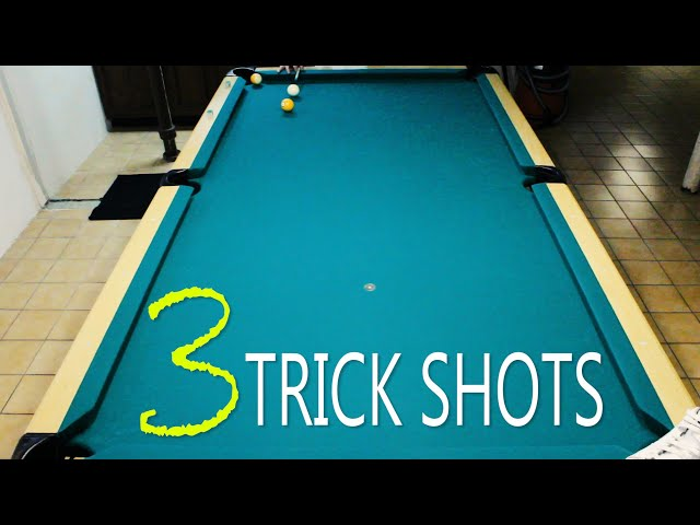 3 Pool Trick Shots: Volume 1