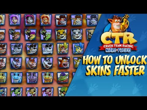 Crash Team Racing: How To Unlock Skins FAST! [PATCHED]