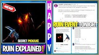 """*NEW* Fortnite: """"Ruin"""" Skin/Update Explained! (Secret Pickaxe & Event Tonight)"""