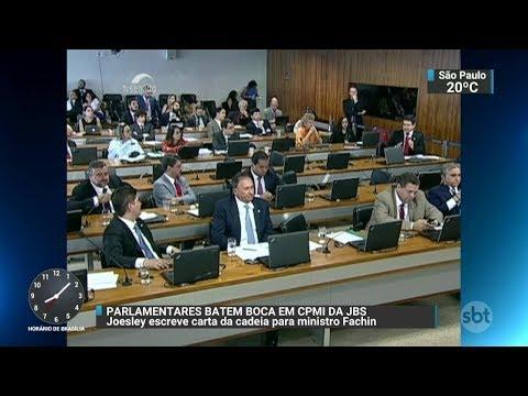 Parlamentares discutem em CPMI da JBS | SBT Brasil 17/10/17
