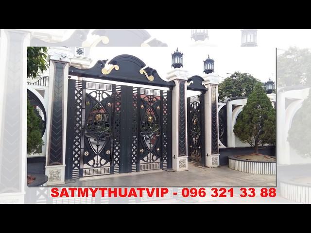 Cổng sắt nghệ thuật dành cho biệt thự tại Hà Nội Liên hệ 096 321 33 88