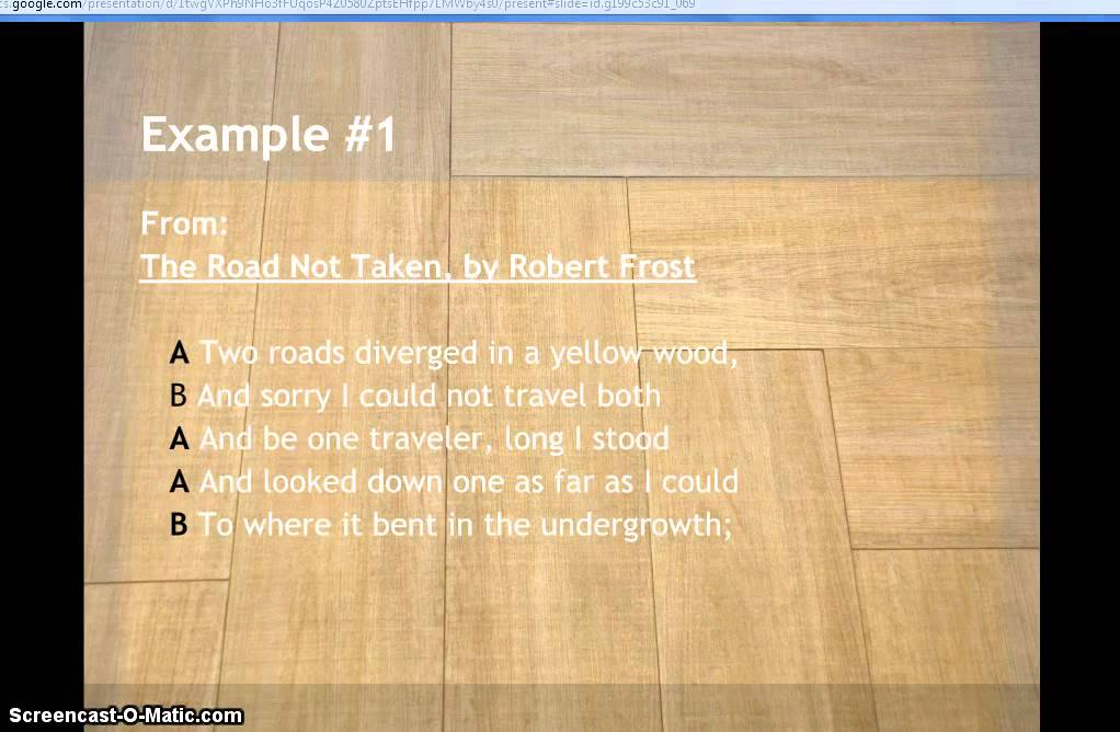 Examples Of Rhyme Scheme In Poetry YouTube