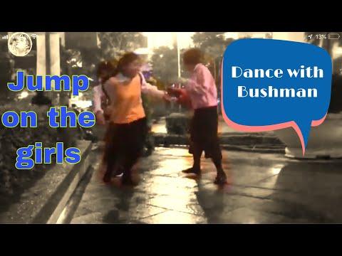 Dance Christmas Eve with Bushman. Bushman prank 2019