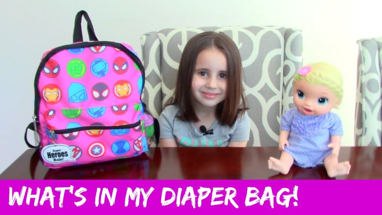 baby alive what 39 s in my diaper bag youtube. Black Bedroom Furniture Sets. Home Design Ideas