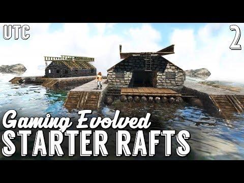Double Boat Building! Arahli's Starter Raft :: Gaming Evolved Ark w/ UTC :: Ep. 2