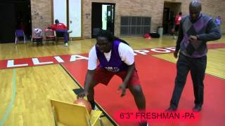 6'3'' JAYNELLE ROBINSON LEARNING DRILLS AS A FRESHMAN CLASS OF 2016