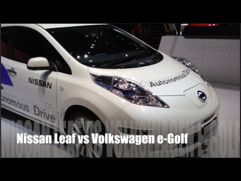 nissan leaf vs volkswagen e golf youtube. Black Bedroom Furniture Sets. Home Design Ideas