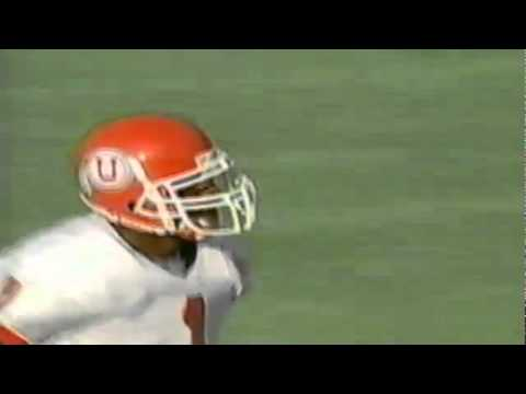 Utah WR Kevin Dyson makes an unreal one-handed catch...out of bounds vs. Oregon 10-18-97