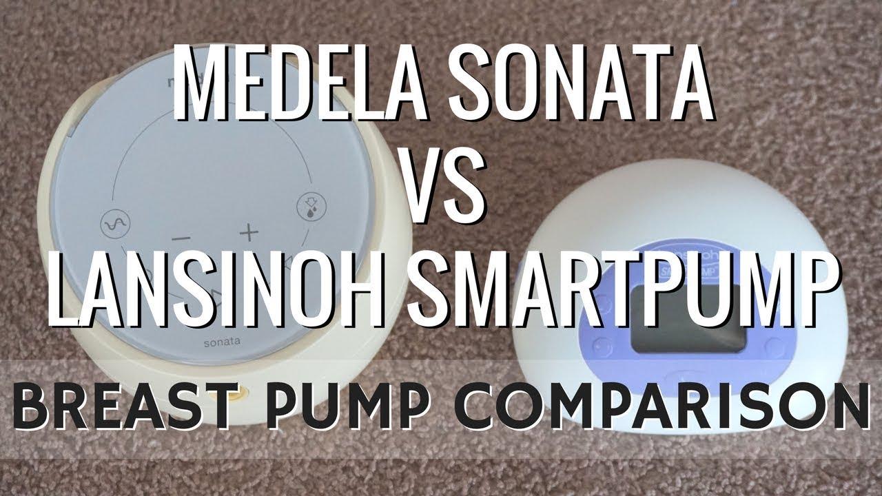 Medela Sonata Vs Lansinoh Smartpump Breast Pump Comparison Youtube