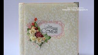 Свадебный альбом в коробке. Скрапбукинг