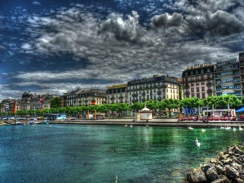 premières images de Genève, une belle ville de Suisse, la ville de la diplomatie, science