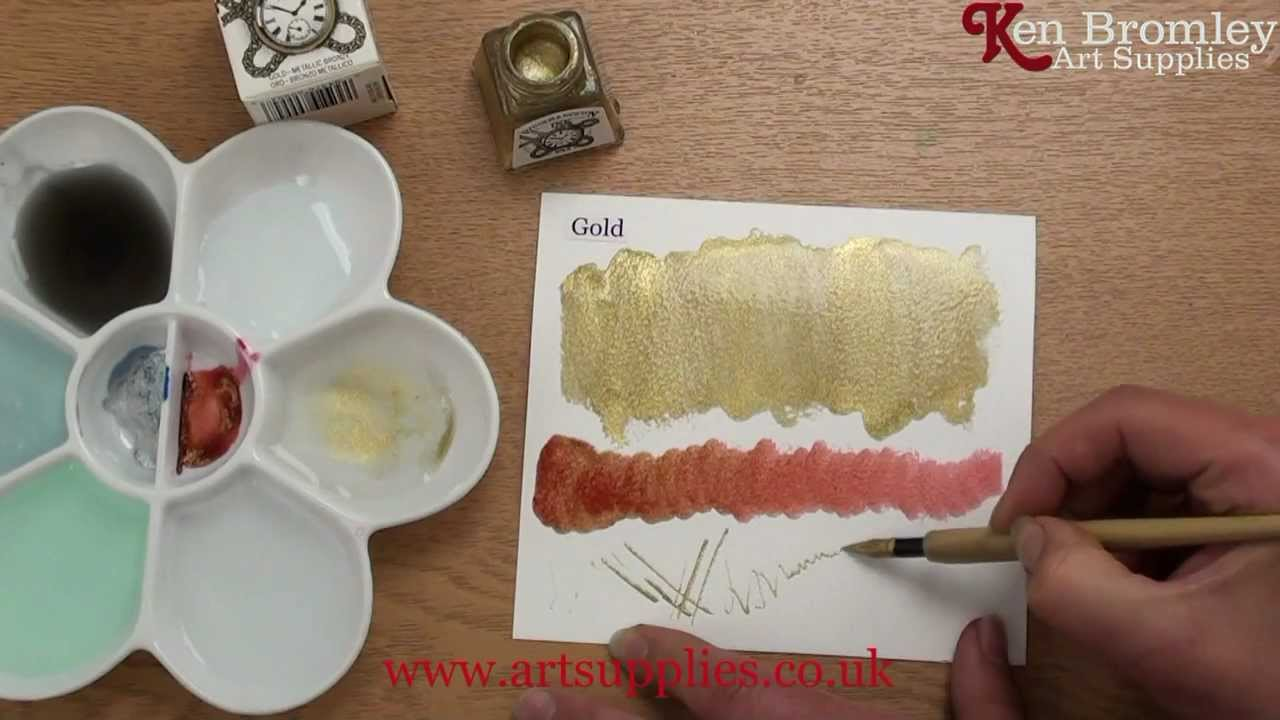 How To Make Calligraphy Ink From Acrylic Paint