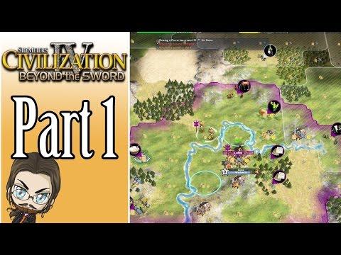 Civilization IV Beyond the Sword Gameplay: Rome - Part 1 - Let's Play Walkthrough