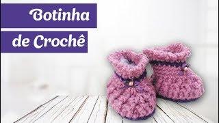 Aprenda a Fazer uma Botinha de Bebê em Crochê